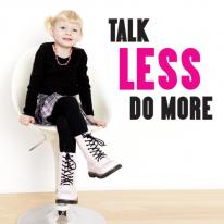 (LU-M109) Talk less do more_Pink