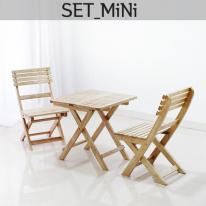 [벤트리]원목접이식 카페테이블set-mini