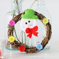 [크리스마스트리장식]단추 포인트 넝쿨리스