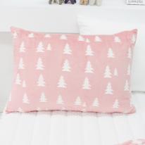 극세사 베개커버 노르웨이숲 핑크