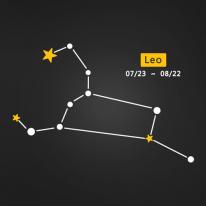 (LU-S92) 별자리스티커-사자자리