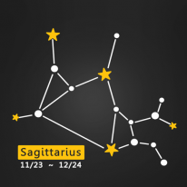 (LU-S94) 별자리스티커-궁수자리