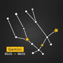 (LU-S88) 별자리스티커-쌍둥이자리