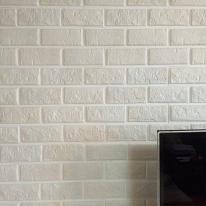 쉽게 붙일 수 있는 입체벽돌 '퍼니월'(생크림색상/화이트+파스텔)