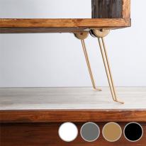 가구다리/상다리 철재 두줄 접이식 180mm (4color)