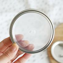 메이슨자 텀블러 홀리드뚜껑 8.5cm (투명화이트) - 와이드마우스
