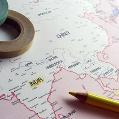 핑크 세계지도(WORLD MAP)
