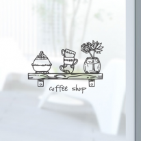 [컬러 안개시트]커피 선반
