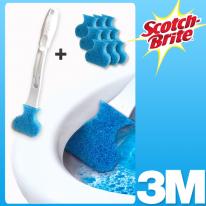 [3M]일회용 변기솔 크린스틱 핸들+리필10개