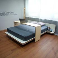 더블/퀸사이즈 JWK 스카이폴 SKYFALL 자작나무 친환경 침상 침대