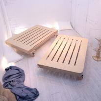 더블/퀸사이즈 JWK 바그다드 자작나무 친환경 침상 침대