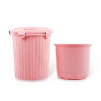 [엔플라스틱]핑크음식물휴지통5L