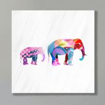CAS386 엄마 코끼리와 아기 코끼리 북유럽 인테리어 캔버스액자