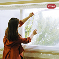 엘트리 창문용 지퍼타입 방풍막 대형 300cmX120cm 1입