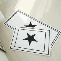 자체제작 스타 매트 + 주방매트 set (화이트)
