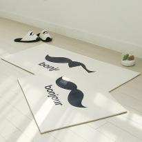 자체제작 봉주르 매트 + 주방매트 set (아이보리)