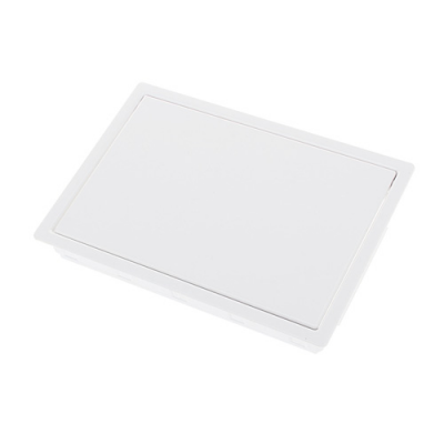 반자동 휴지통 투입구 PVC (화이트)