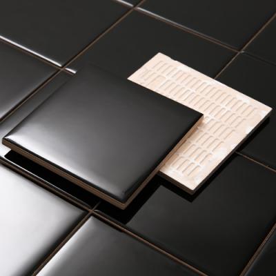 [대량구매할인]모던 블랙타일 유광 (100x100)