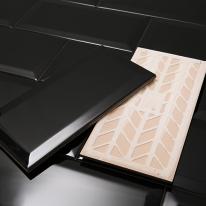 면취 블랙타일 유광 (100x200)