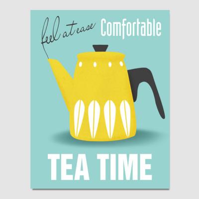 캔버스액자 / CAS427 북유럽 스타일 포스터-TEA TIME3