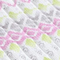 리플&미끄럼방지 누빔원단-지그재그#핑크77099