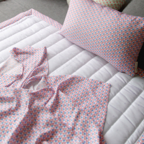 세모 인견베딩 (핑크) - 싱글세트