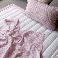 세모 인견베딩 (핑크) - 퀸세트