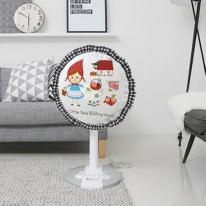 선풍기커버 패브릭 벽걸이형-소녀의 하루