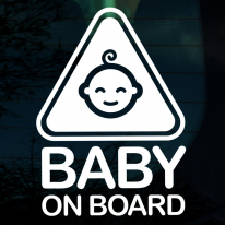 엠블렘 방긋아기 BABY ON BOARD