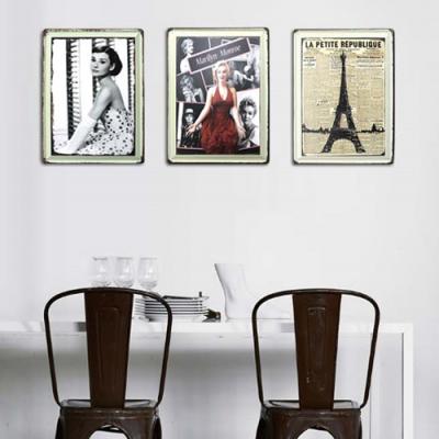 빈티지 틴보드 30×40-에펠탑외5종