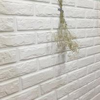 쉽게 붙일 수 있는 입체벽돌 '퍼니월' 눈송이색상(순수화이트)