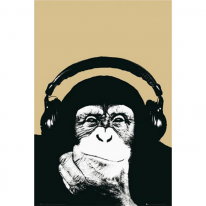 159475 Steez 헤드폰 원숭이 포스터