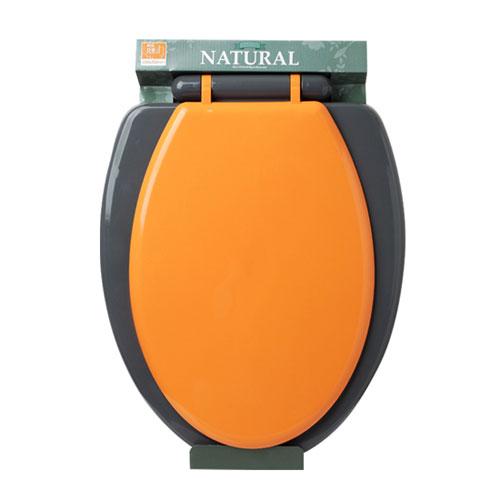 컬러 하드 변기커버 O형 오렌지
