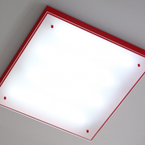 LED 스킨 스퀘어(거실등)-레드