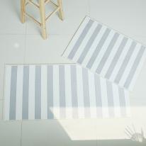 자체제작 모던스트라이프 매트 + 주방매트 set (그레이)