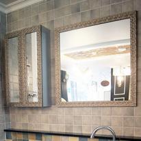 모나리자 브라운 욕실거울