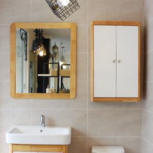 원목 라운딩 거울(메이플)