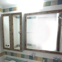 샤미갈색 욕실거울