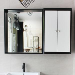 원목 선반형 거울(블랙)