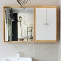 원목 선반형 욕실거울(메이플)