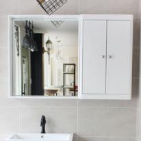 원목 선반형 거울(화이트)