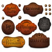 10%할인)3D전사지]Leather antic label-5 (99784)