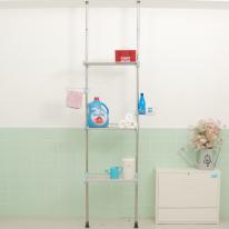 [토마톰스]접이식 욕실선반 3단 500-블루