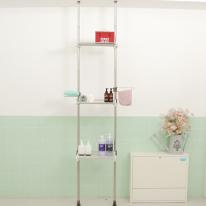 [토마톰스]접이식 욕실선반 3단 600-화이트