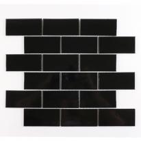 자기질 모자이크타일 검정블럭 유광 (95x45)