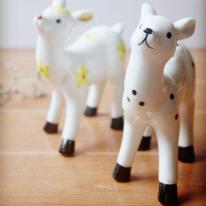도자기 꽃사슴-2p set