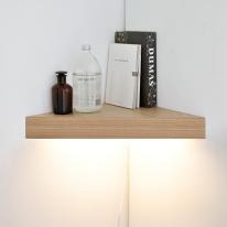LED 코너 선반 벽조명-무늬목