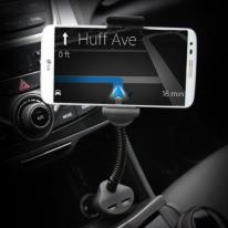 차량용 시거잭 스마트폰 거치대+2Port USB 충전포트