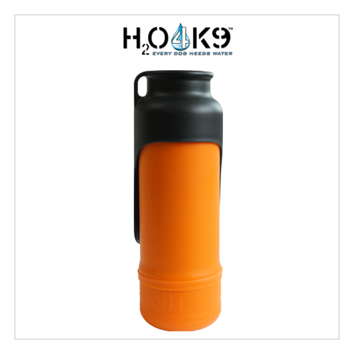 700ml K9 애견물통 오렌지(보온·보냉용 실리콘 스킨 포함) (K9ORG)