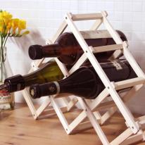 접이식 우드 와인 거치대 와인렉  -6홀